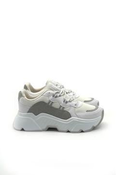 BV 00142 Beyaz/Gri  Spor Ayakkabı resmi