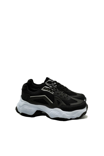 Picture of BV 00141 Black / White Sport Shoes