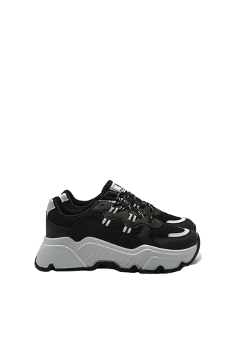 Picture of BV 00142 Black / White Sport Shoes