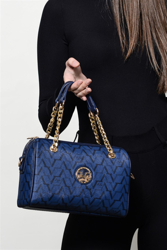 Picture of 19V69 ITALIA 5129 Navy Blue Woman Bag