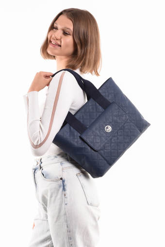 Picture of 19V69 ITALIA 7103 Navy Blue Woman Bag