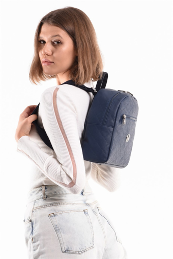 Picture of 19V69 ITALIA 7182 Navy Blue Woman Backpack